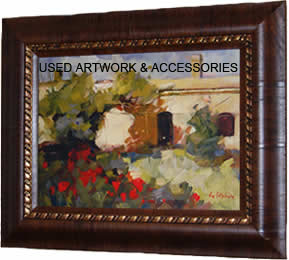 USED ARTWORK & ACCESSORIES (PAINTINGS, LAMPS, DESK ORGANIZERS, ETC.)